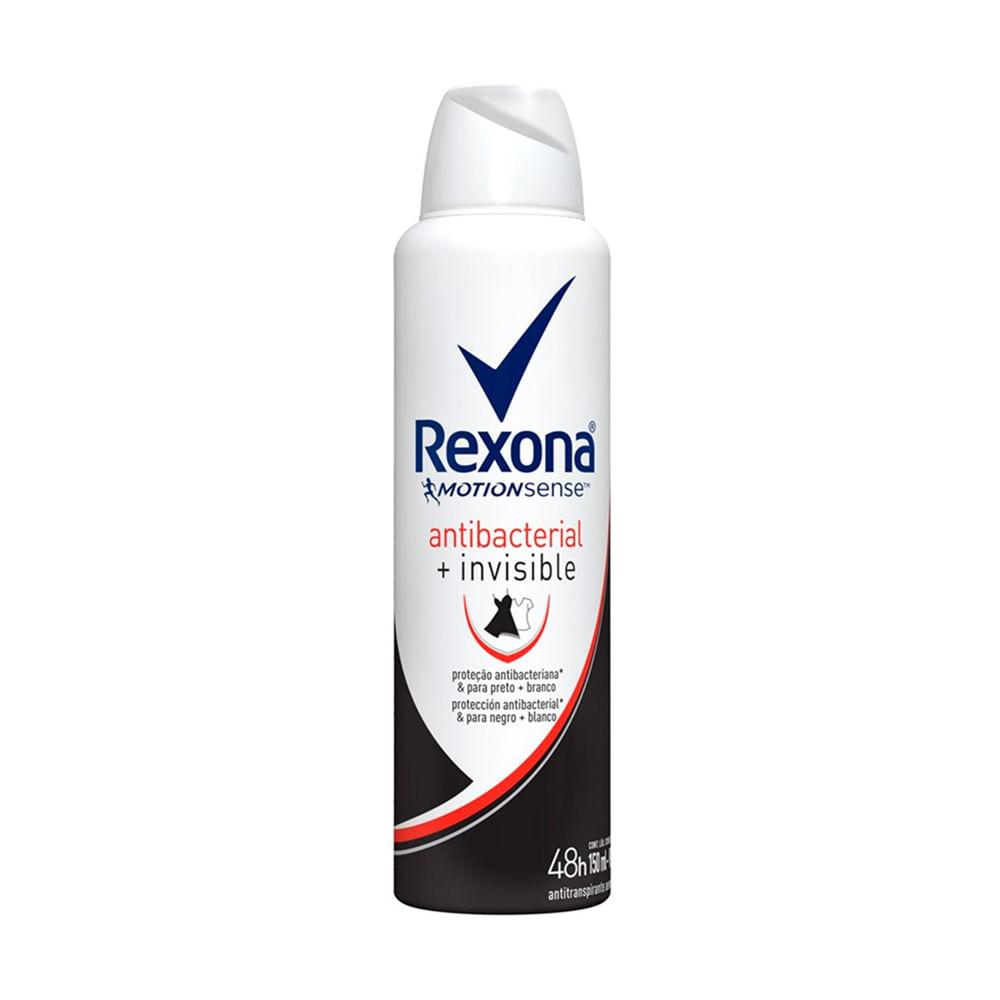 desodorante rexona  antibacterial invisible