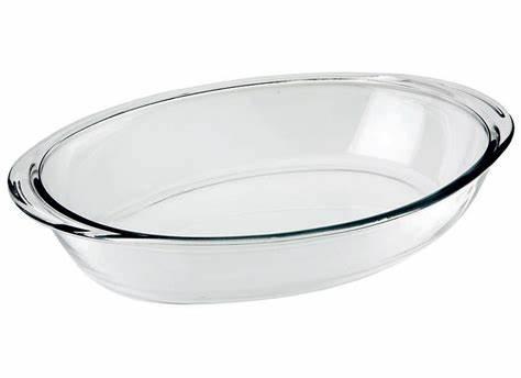 assadeira de vidro oval 4lt